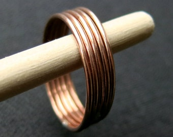 Stacking ring, plain, 1.0mm, copper