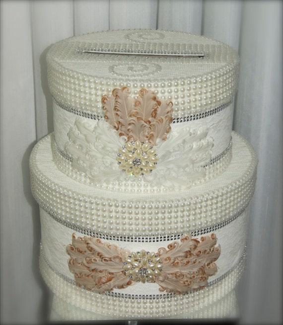 Large Wedding Gift Card Box : large wedding card box, card box, wedding envelope holder, blush ...