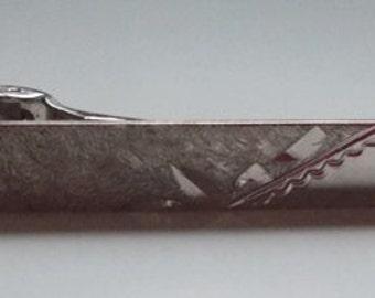 Anson 1960s Silver Etched Tie Clip