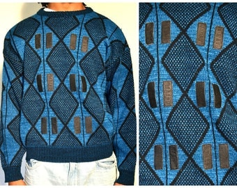 Cosby sweater with leather detail size S/M
