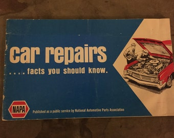NAPA Car Repair Facts Booklet - 1971