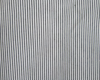 Pinstripe Print Fabric by the Yard White and Navy pinstripe Print Summer Clothing DIY Home decor Craft Bag Canvass Cotton Fabric
