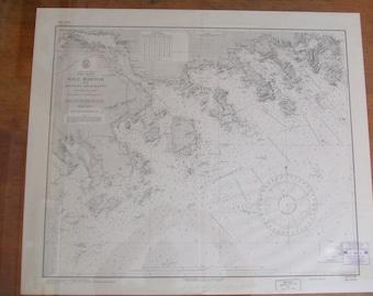 Ship Harbor ~ Nova Scotia, Dominion of Canada - Original British Survey in 1854 - includes Adjacent Anchorages - Nautical Chart #1212