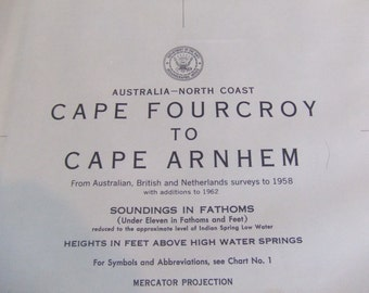 Cape Fourcroy to Cape Arnhem ~ North Coast of Australia - Arafura Sea - Gulf of Carpentaria - Melville Island - Timor Sea - Chart #8019