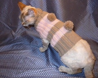 Hand-knitted cat sweater / / hand knitted sweaters for short hair cat breeds