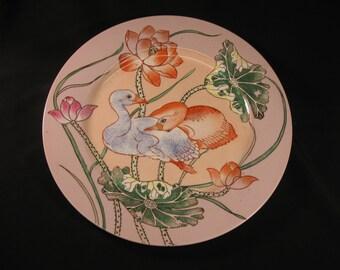 Exquisite Decorative Porcelain Plate w Two Birds Motif