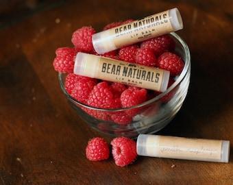 Organic Lip Balm - vanilla-raspberry