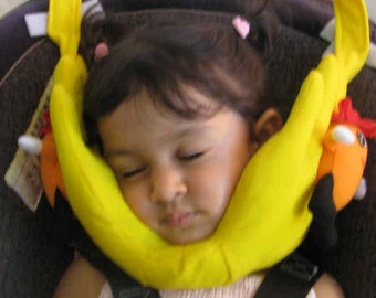 head support for kids travel pillow for carseat stroller airplane etc