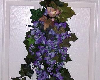 Swag, Spring Wreath/Swag, Purple Lilac Swag, Victoria Garden Swag Wreath