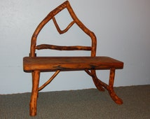 Hemlock & Crab Apple Wood Arc Bench