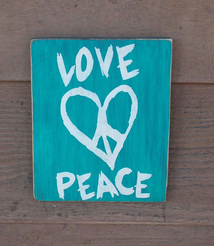 Love Peace Sign Home Decor Teenagers