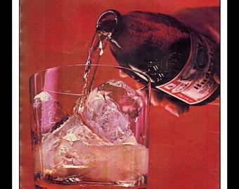 "Vintage Print Ad August 1965 : Budweiser Beer ""Stubby Bottle"" Wall Art Decor 8.5"" x 11"" advertisement"