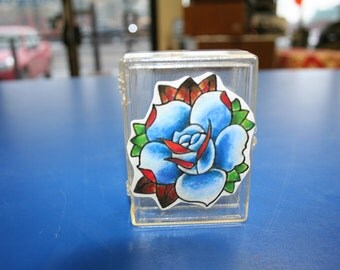 Blue rose. Bobby pin/Small Keepsake/Trinket/Stash Box