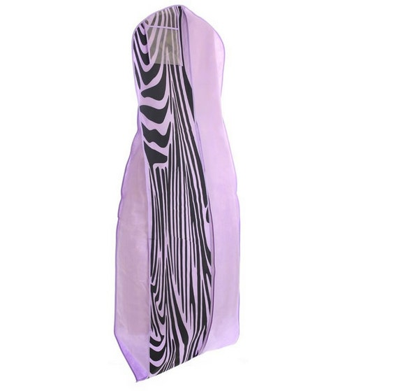 Light purple with zebra print breathable wedding dress garment for Zebra print wedding dress