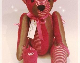 Luxury fabric teddy bear