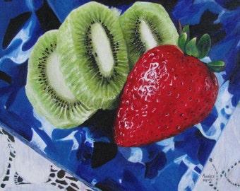 Kiwi & Strawberry Painting