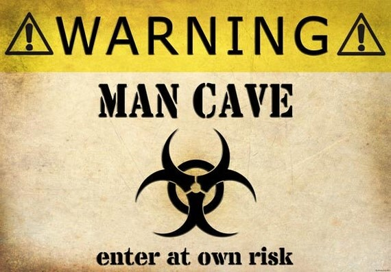 Man Cave Expo Collinsville Il : Fv vintage style warning man cave enter at own risk funny
