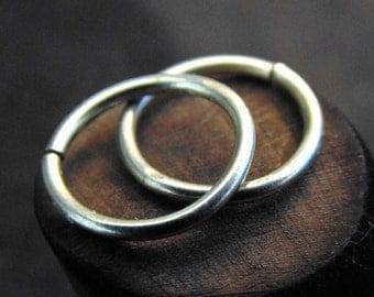 sterling silver cartilage Hoop Earrings, sterling silver 18 - 16 gauge hoop earrings, sterling silver small hoop earrings, everyday earrings