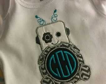 Baby robot personalized onsie/shirt FREE SHIPPING