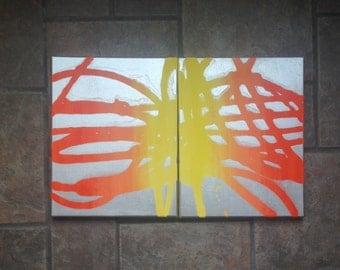 Ombre Mixed Media Canvas Art