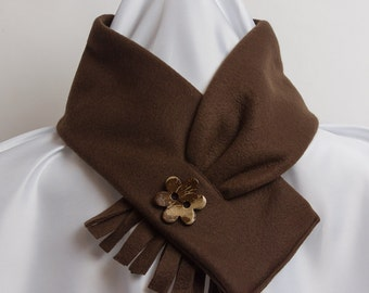 Scarf Fleece Dark Brown Neckwarmer