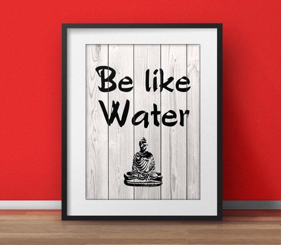 Lao Tzu Be Like Water Tao Te Ching Tao Quote Yoga Poster