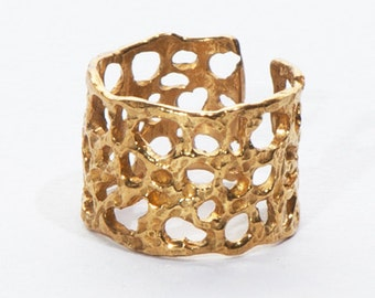 Antique Gold Lava Ring
