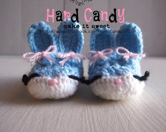 Crochet Baby Bunny Shoes