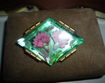 Vintage french Brooch  art deco style        Free shipping within USA