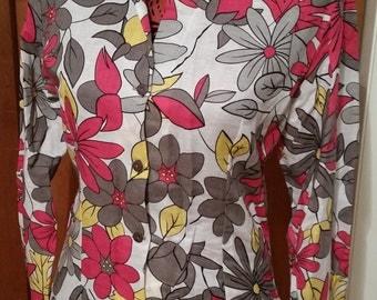 Floral Button-up Dress Shirt