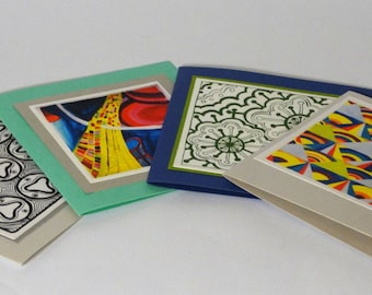 Set of 4 Handmade Cards with Envelopes