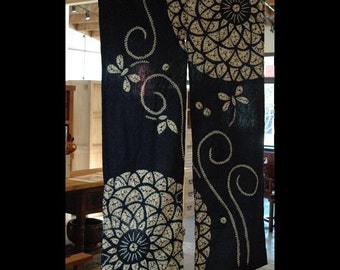 "traditional cotton noren, door way curtain. (AA95) 35""W x 59""L"