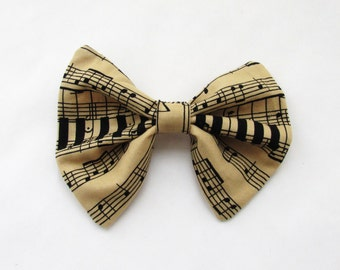 Musical Theme Hair Bow Hair Accessories Hair Clip  Bows For Teens Adult Hair Bow  French Barrette Girls Hair Bow Vintage Hair Bow PrettyBows