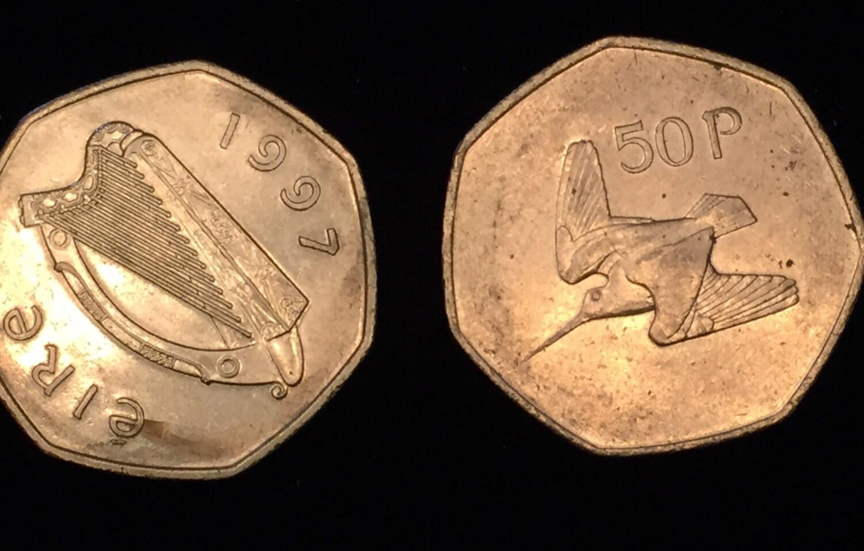 50p coin ireland