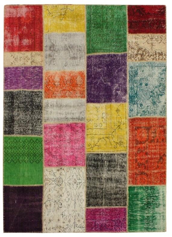 240 x 170 cm vintage turque patchwork tapis multi color style Tapis vintage patchwork