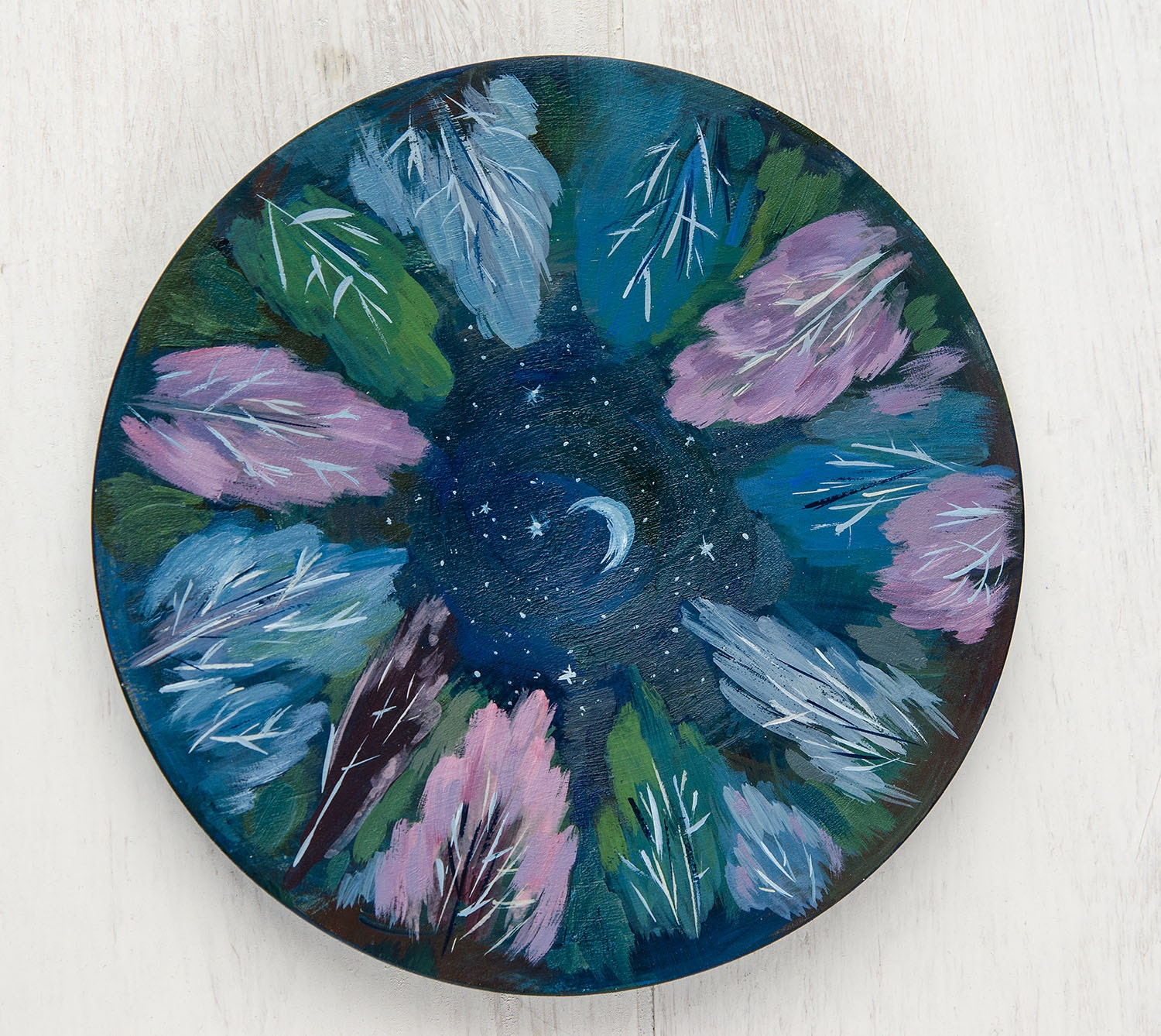Wall Plates Home Decor : Wall plate for home decor sleeping forest hangings