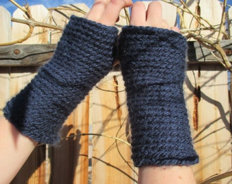 Hand made crochet fingerless gloves,warm and cozy