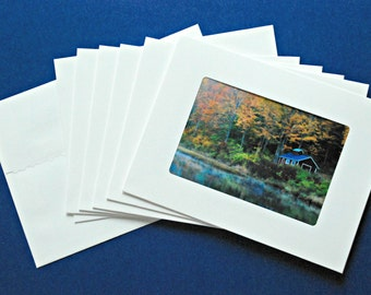 Nature Art Photo Greeting Cards: Autumn in Vermont Collection, Set of 6 Blank, Handmade