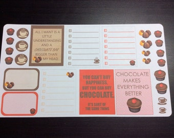 Guilty Pleasures Chocolate stickers set -  for your EC planner