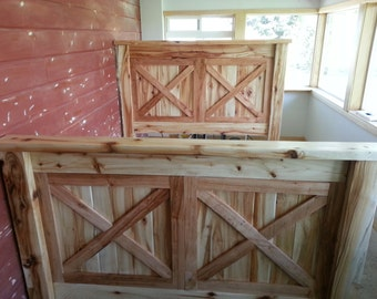 Aspen Barn Door Bed Frame