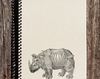 Rhino Journal - Albrecht Durer Art - Journal - Notebook - Sketchbook - Diary