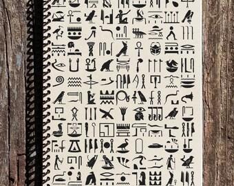 Heiroglyphics Journal - Heiroglyphics Notebook - Ancient Egypt - Egyptian Heiroglyphs- Ancient Religions - Journal  - Notebook