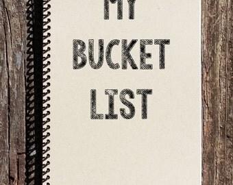 My Bucket List - Bucket List Notebook - Bucket List Journal - Sketchbook - Diary - Notebook - Journal - Birthday Gift