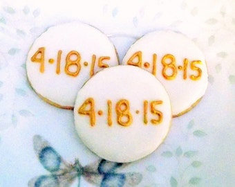 Sugar cookies with date design