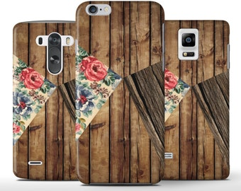 Vintage Flowers Triangle Wood Planks Case Cover Apple iPhone 5 5s 5c 6 Plus Samsung Galaxy S6 s4 s5 Note 3 4 Sony Xperia Z3 Z1 Z2 Lg G2 G3