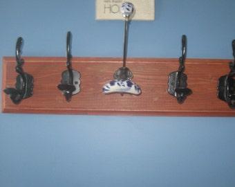 Handmade 5 hook , decorative functional coat hook.