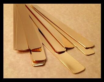 50/50 Brass and copper 16g QTY (40 total ...20 brass..20 copper) cuff blanks