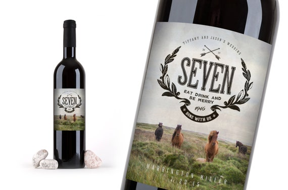 WEDDING TABLE NUMBERS -- Wine bottle numbers add style and vintage Country flair. Wine Bottle Labels Wedding Table Numbers