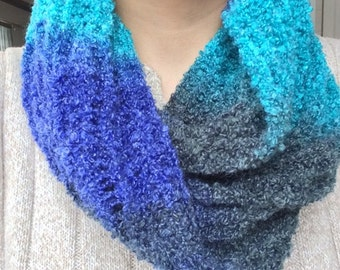 24 inch scarf, cowl, infinity, hand made, unique, made to order