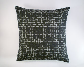 Black & White Decorative Pillow Cover, Throw Pillow, 16x16""